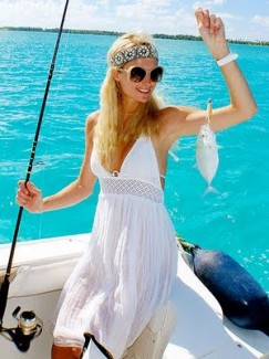 Paris Hilton Celebrity Fishing