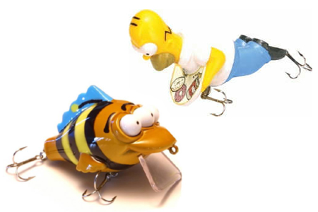 Simpsons Fishing Lures
