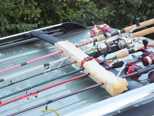 Fishing Rod Rack Commonly used for ultralight fishing