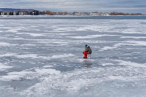 Ultralight fishing in the ice