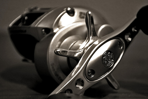 A well maintained ultralight fishing reel